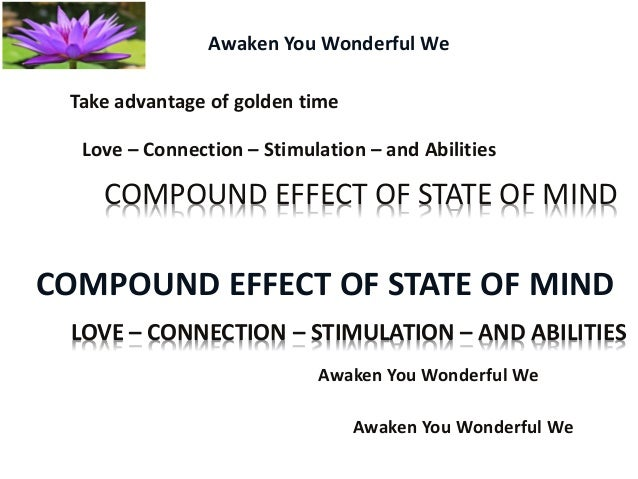 Awaken You Wonderful We - When do we realize the Effects of stress on mind, body, world. Slide 2