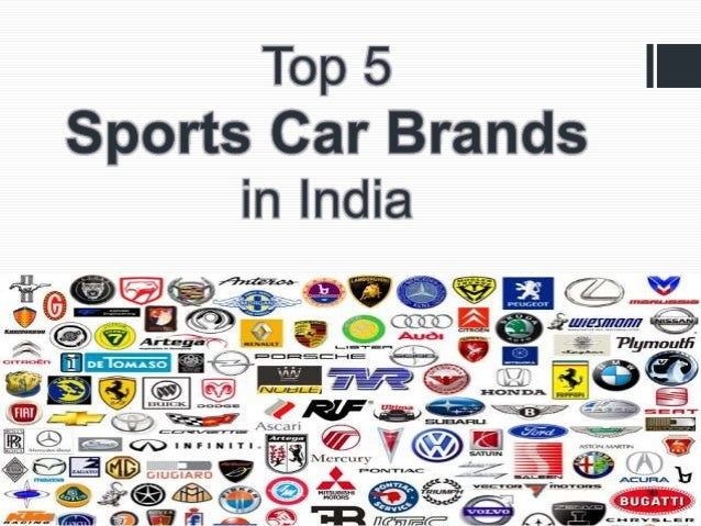 Top Sports Car Brands In India