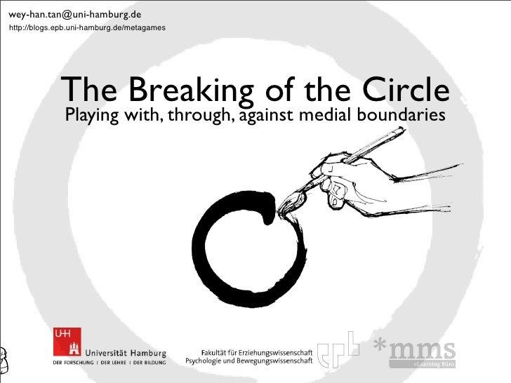 wey-han.tan@uni-hamburg.dehttp://blogs.epb.uni-hamburg.de/metagames             The Breaking of the Circle              Pl...