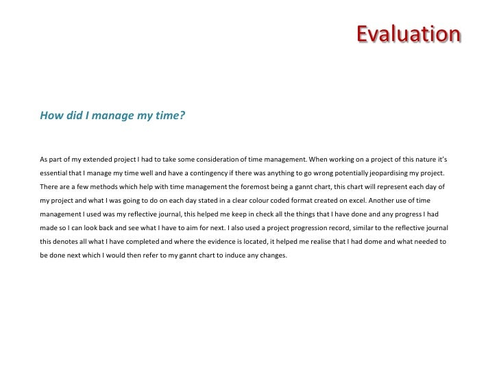 Extended Project Evaluation Ao Evaluating The Project