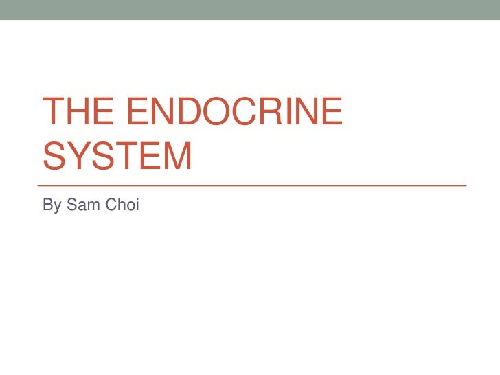 THE ENDOCRINESYSTEMBy Sam Choi