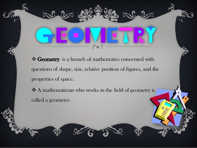 ppt on geometry in our daily life