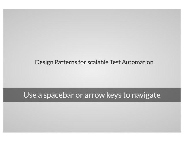 Design Patterns for Scalable Test Automation With Selenium & WebdriverIO