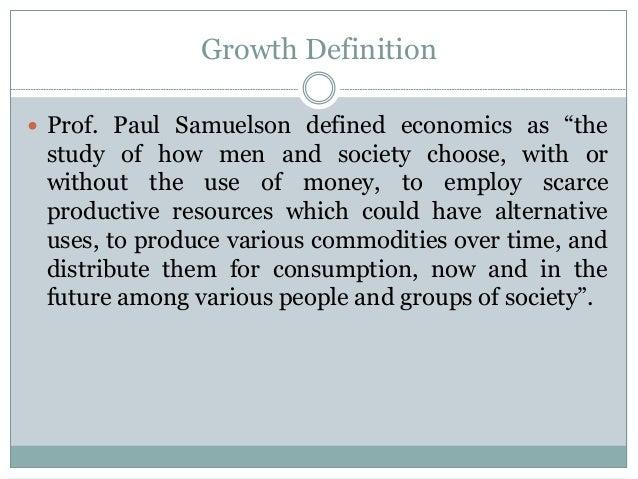 paul samuelson definition of economics