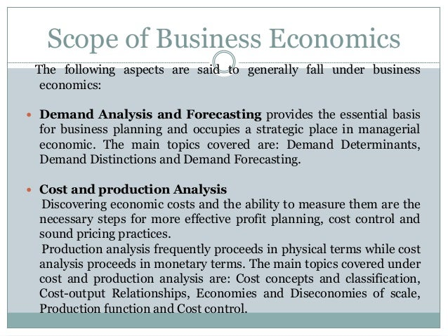 The Nature and Scope of Economics (6177 Words)