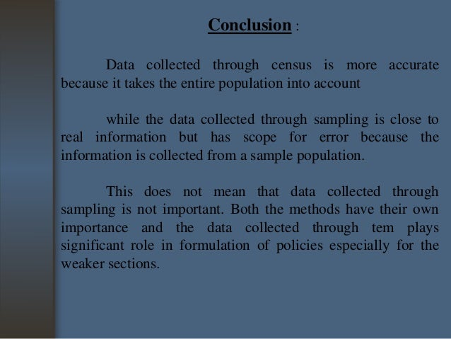 Difference between census and sampling pdf