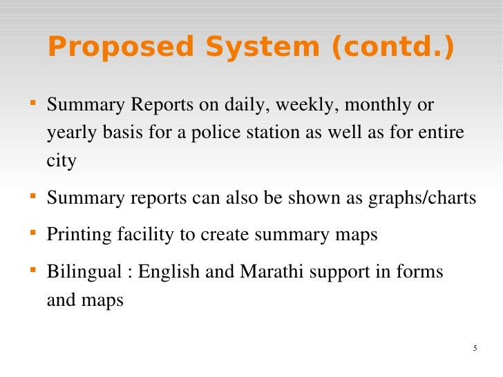 Gis Based Incident Reporting System For Police Department