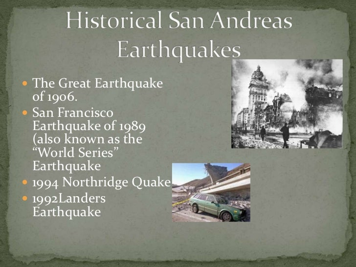 Ppt the san andreas fault team 2 useit intern class of 2014.