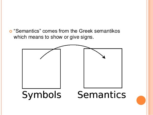 what does the greek word semantikos mean