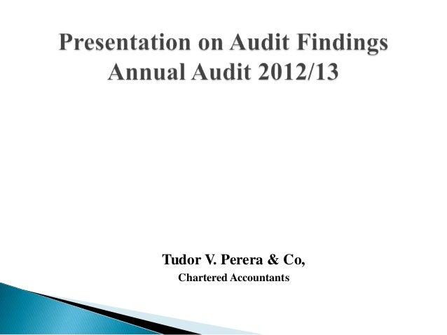 Tudor V. Perera & Co, Chartered Accountants