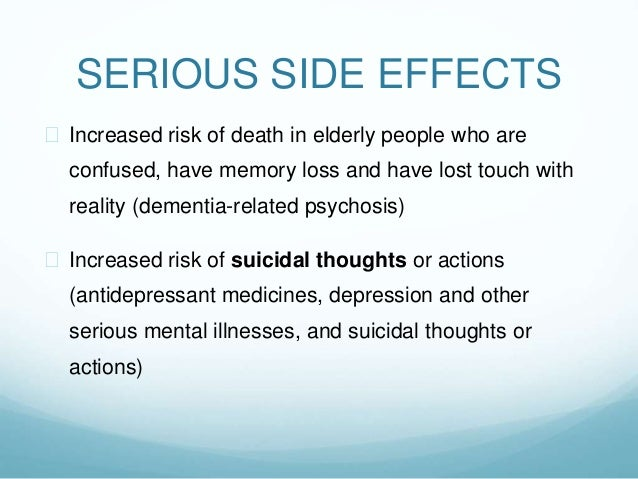 Seroquel Side Effects Elderly Dementia