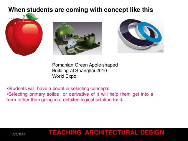 Architecture Design Concept Statement teaching architectural design