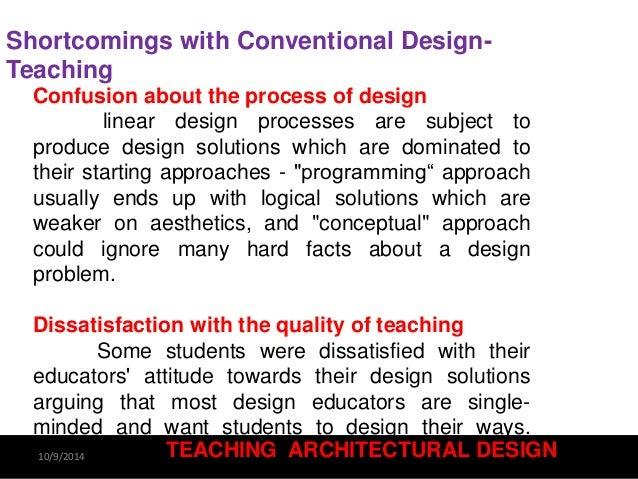 Teaching Architectural design