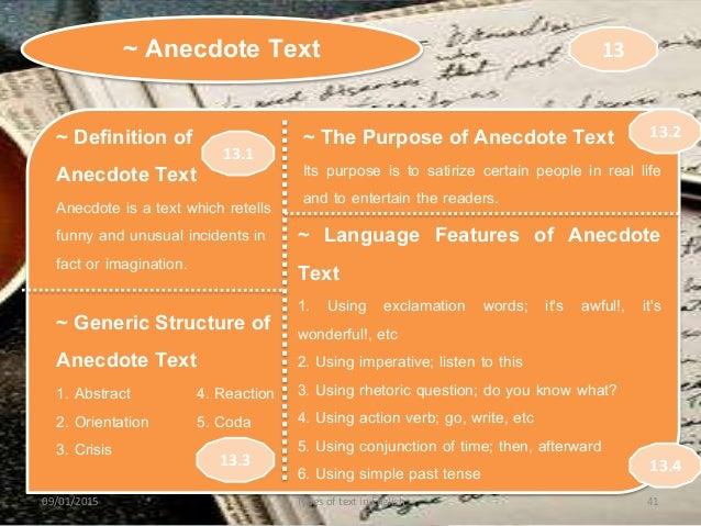 Anecdote Text Example