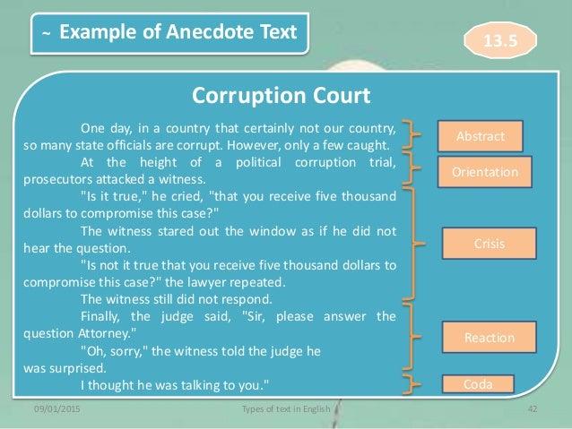 87 Example Of Anecdote