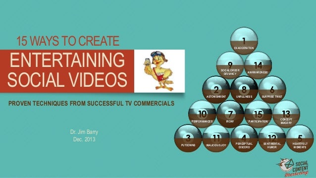 15 WAYS TO CREATE  EXAGGERATION  ENTERTAINING SOCIAL VIDEOS  SOCIAL ORDER DEVIANCY  ASTONISHMENT  AWKWARDNESS  UNRULINESS ...