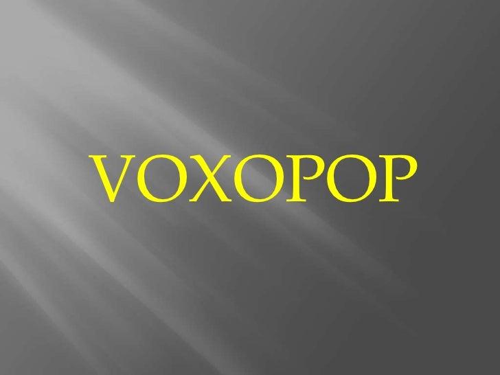 VOXOPOP