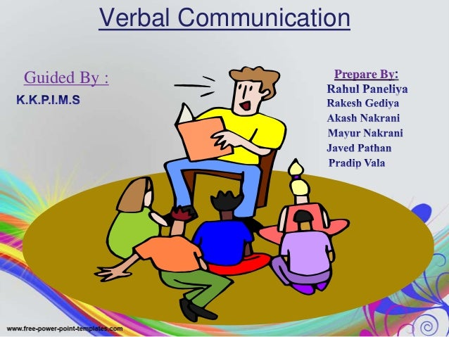Verbal CommunicationGuided By :                Prepare By
