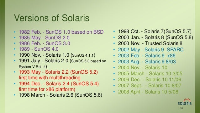 Solaris Operating System Oracle
