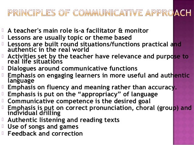 communicative approach Choose from the list of communicative task templates and create an activity that is goal-directed, extended, structured, and controlled (yule 1997: 30-31.