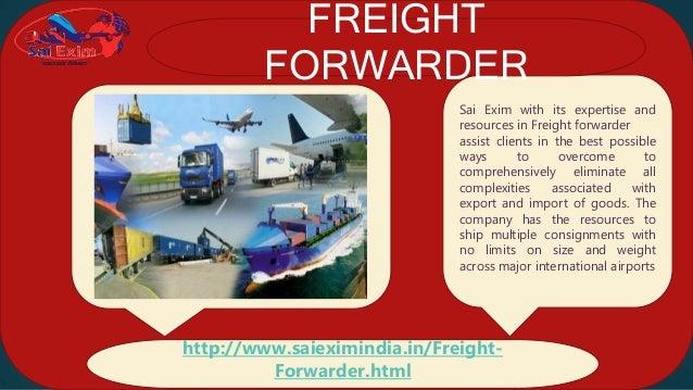 International Freight Forwarder - Sai Exim India