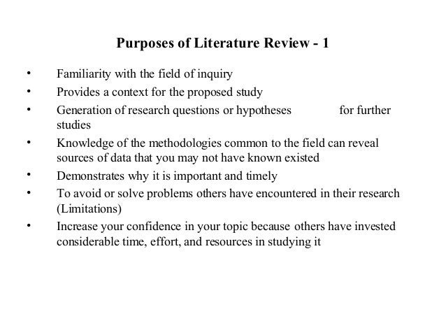 why should literature review be connected with research question and hypothesis Research hypothesis researchers about the role of the literature review in the research process research questions that are central to the research proposal.