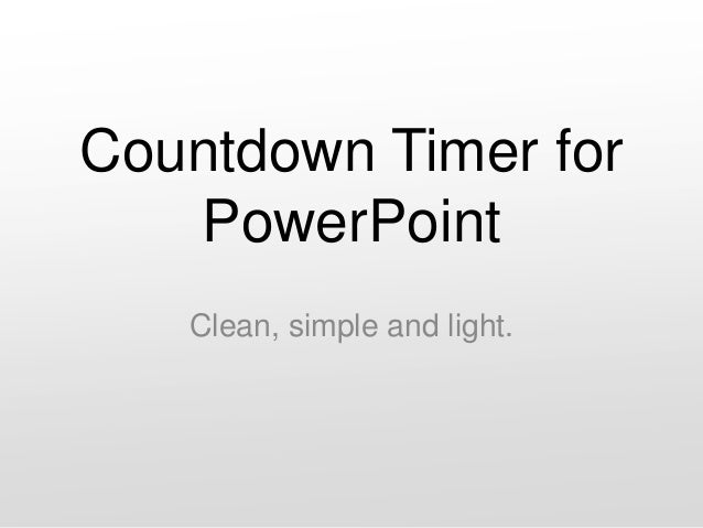 Countdown Timer for PowerPoint