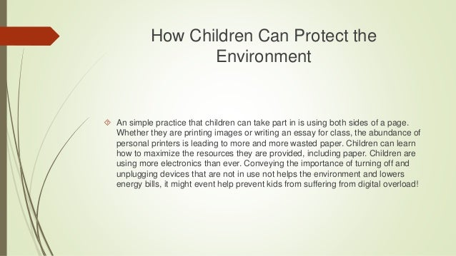 Essay on environment protection