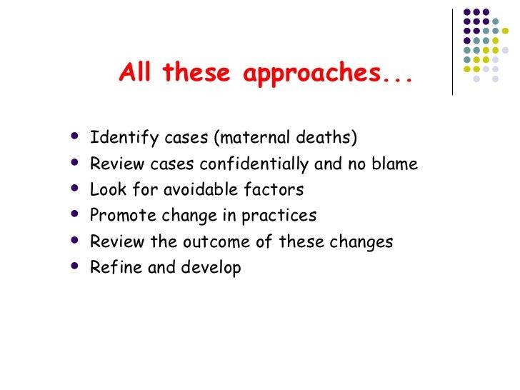 Maternal death reviews: A retrospective case series of 90 ...