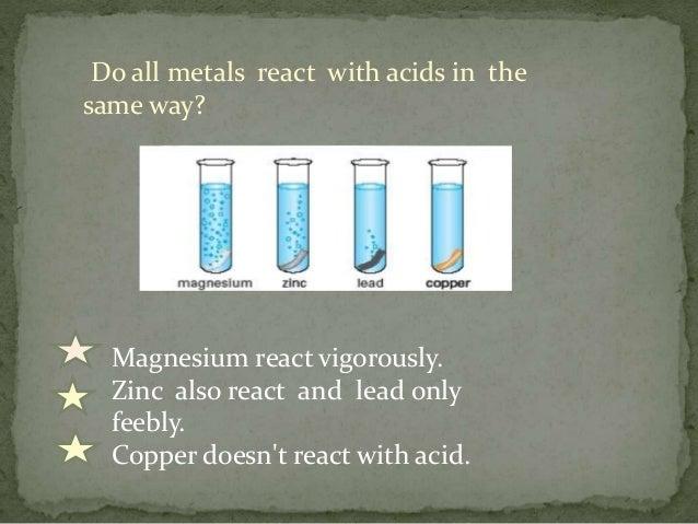 reaction of metals with acid