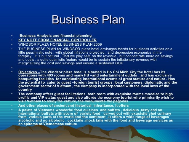ppt on business plan of hotel