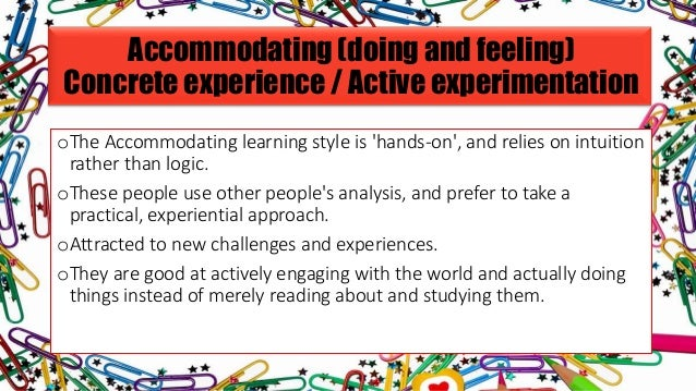 Accommodating for learning style