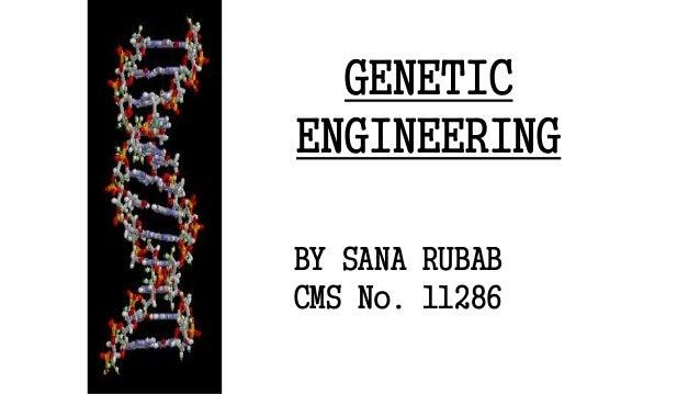 GENETIC ENGINEERING 1 BY SANA RUBAB CMS No. 11286