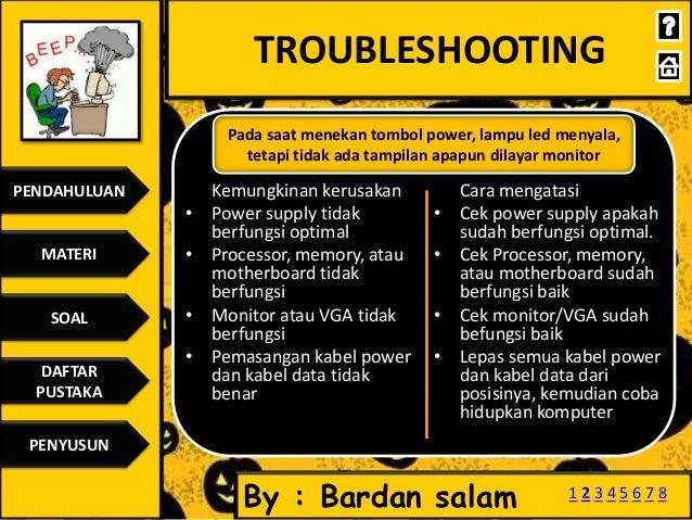 Troubleshooting Pada Pc