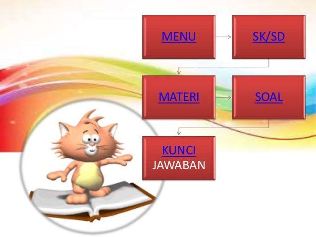 MENU SK/SD MATERI SOAL KUNCI JAWABAN