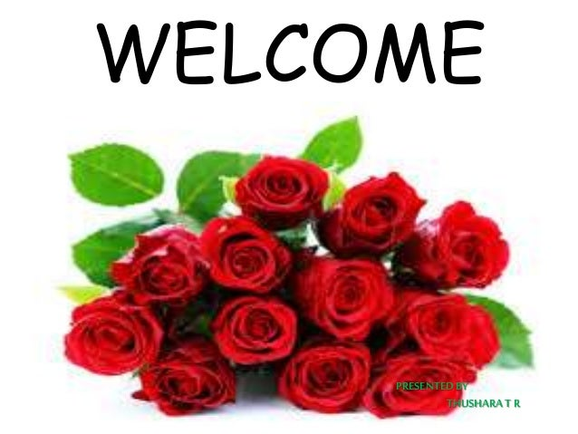 WELCOME PRESENTEDBY THUSHARA T R