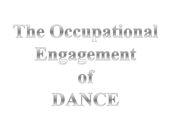 The occupation I have chosen to base this photo presentation   around is dance. Dance was a huge part of my second       f...