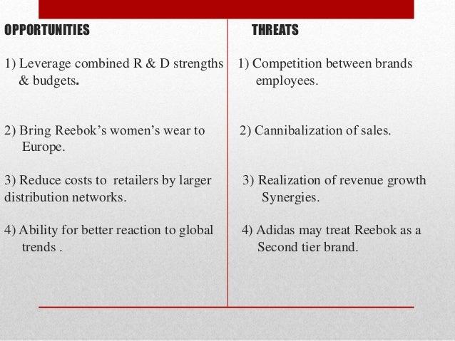 adidas reebok mergers The culture of adidas and reebok  adidas-reebok is one such merger where.
