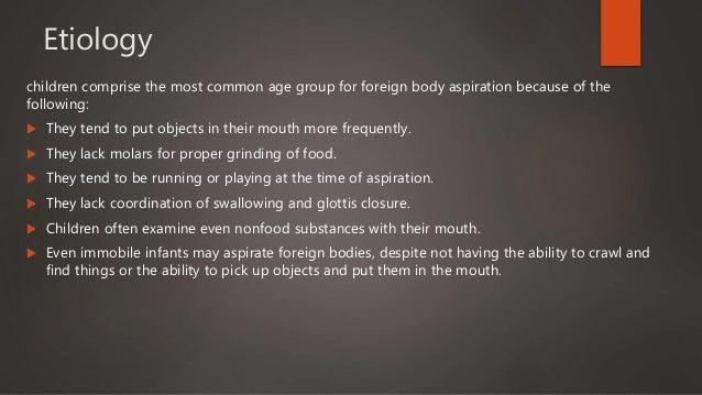 Foreign body aspiration in children Slide 3