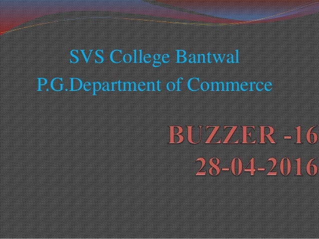 SVS College Bantwal P.G.Department of Commerce