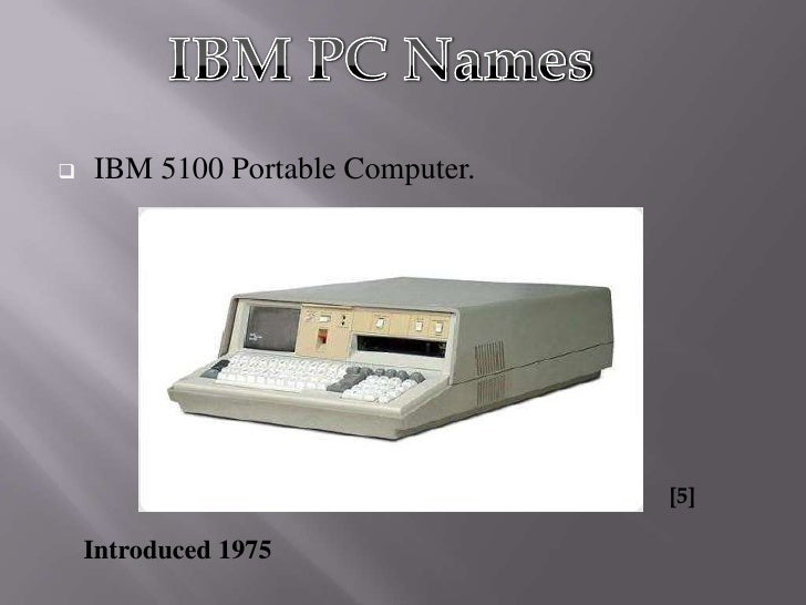 The History of IBM PC