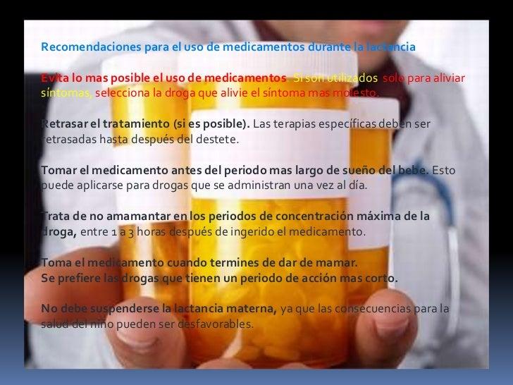 medicamentos contraindicados en lactancia materna