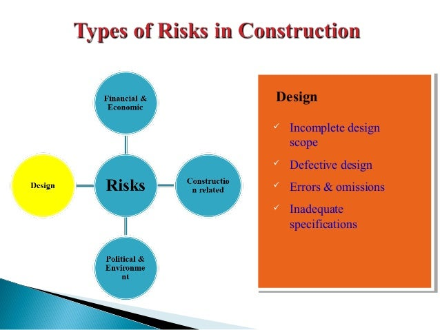 types of risks in construction projects pdf