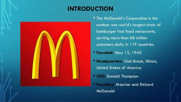Strategic Goals And Direction Of Mcdonald