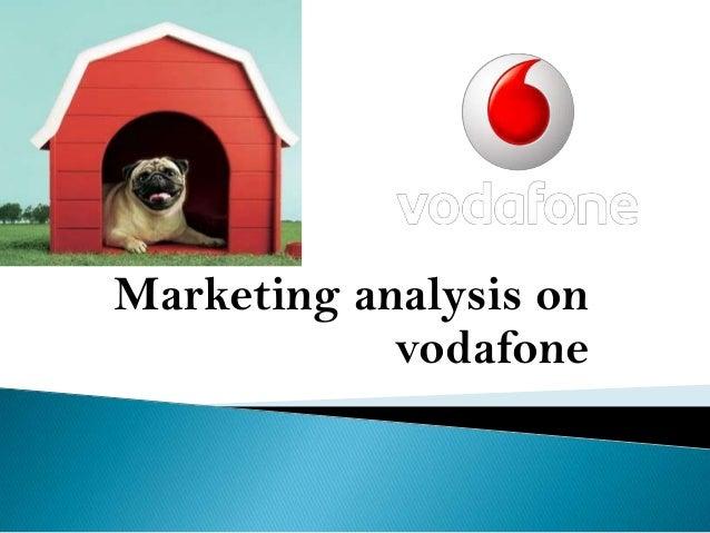 Marketing analysis on vodafone