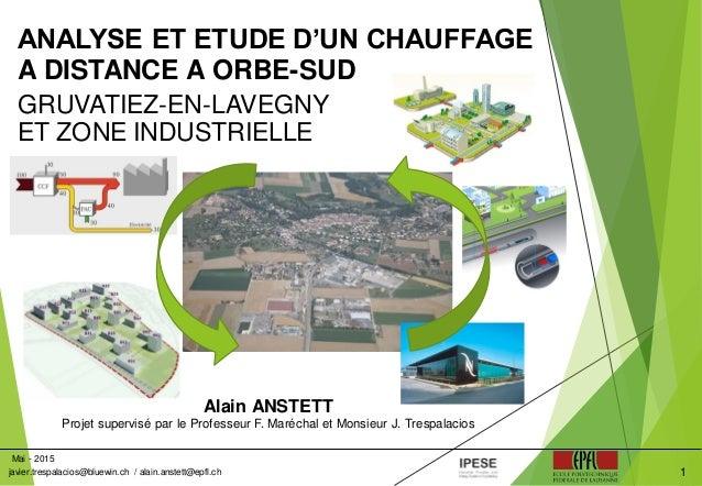 Alain ANSTETT Projet supervisé par le Professeur F. Maréchal et Monsieur J. Trespalacios ANALYSE ET ETUDE D'UN CHAUFFAGE A...