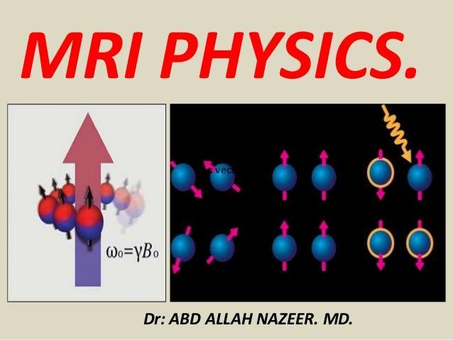 c vector MRI PHYSICS. Dr: ABD ALLAH NAZEER. MD.