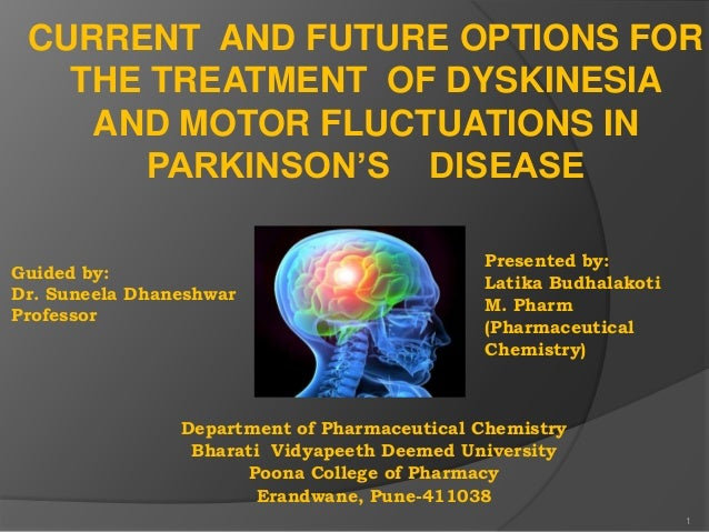 CURRENT AND FUTURE OPTIONS FOR THE TREATMENT OF DYSKINESIA AND MOTOR FLUCTUATIONS IN PARKINSON'S DISEASE Guided by: Dr. Su...