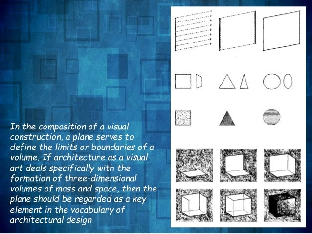 Architecture Design Vocabulary presentation1 plane-form space and order