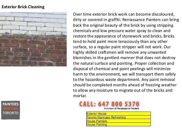 Exterior Brick Cleaning Toronto Exterior Brick CleaningExterior